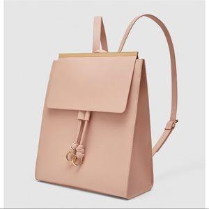 Zara pink backpack